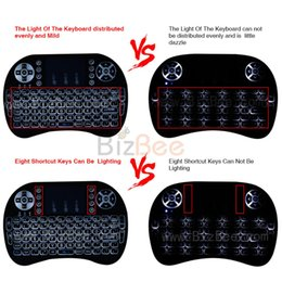 Wholesale Remote For Xbox - Air Mouse RII I8 Mini wireless keyboard Android tv box remote control backlight keyboards used for TV box,Tablet,XBox free tv
