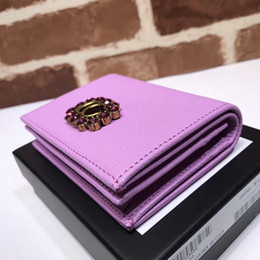 Wholesale Diamond Encrusted - 2017 famous fashion brand new women's diamond-encrusted purse high-quality real pick-up wallets with classic black and white box luxury bag