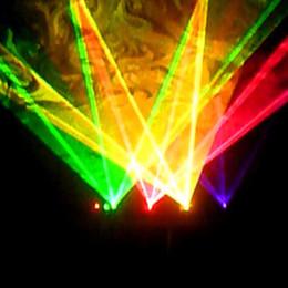 Wholesale Dj Laser Light System - 4 Lens RGBY Laser 7CH DMX DPSS Scanner Equipment Stage Lighting Projector DJ Party Disco Show System Lights