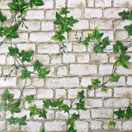 2019 pintura a óleo fundo preto Tijolo moderno 0.45m * 10m do papel de parede do Pvc do rolo do papel de parede 3d para o cinza autoadesivo do tijolo do papel de parede das paredes