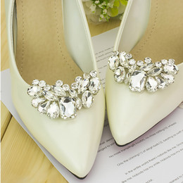 1 Piece Rhinestone Shoe Decoration Wedding Crystal Shoe Clips Charms  Elegant Shoes Accessories For Women s High Heels 9b8a0713c4aa