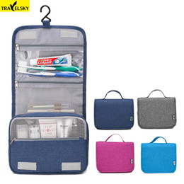 Wholesale large hanging makeup organizer - Travelsky Hot Portable Large Travel Organizer Women Waterproof Makeup Cosmetic Bag Men Toilet Hanging Storage Bags Make Up Kit