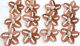 Wholesale Hair Clip Holders For Girls - brown yellow softball baseball basketball leather crystal baseball white flowers bows hair hair clip jewelry gifts for mother girls