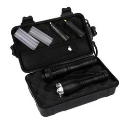 Conjuntos de lanternas táticas on-line-Novo ao ar livre portátil LED recarregável zoom super brilhante lanterna set 2x5000lm X800 tático lanterna P35