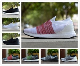 Wholesale white toe socks for men - 2018 UltraBOOST Laceless Socks Ultra BOOST Laceless Casual shoes for Top quality Black Split White Men Women Training Sneakers Size 36-45