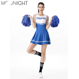775c8bc4b01f sexy school girl costume MOONIGHT 6 Color Sexy High School Cheerleader  Costume Cheer Girls Uniform Party Outfit Fancy Dress