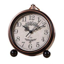 Wholesale Silent Alarm - Creative Vintage European Style Bedroom Clock, Silent Metal Alarm Clock Suitable for Office Study Alarm Clock - Bronze
