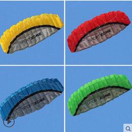 Парафойл воздушные змеи открытый весело высокое качество 2.5 м двойная линия 4 цвета Парафойл парашют Спорт пляж Кайт легко летать с ручкой cheap easy kites от Поставщики легкие воздушные змеи