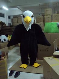 Desenhos animados do traje da mascote da águia on-line-Venda quente de alta qualidade Big tall Black Eagle Fancy Dress Animal Dos Desenhos Animados Adulto Mascot Costume frete grátis