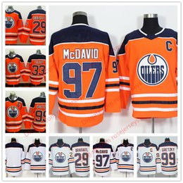 Wholesale Maroon White - Men Youth Women #97 Connor McDavid 99 Wayne Gretzky Talbot Draisaitl 19 Maroon 27 Milan Lucic Orange Kids 2018 Edmonton Oilers Hockey Jersey