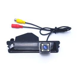 coches nissan micra Rebajas LEEWA cámara especial para vista trasera para automóvil con luz LED para Nissan March / Micra / Renault Pulse # 4285