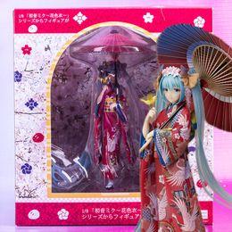 Wholesale Nice Old - 22cm Hatsune Miku Miku Twinkle kimono lovely action figure Toy Collection Moveable Movie Color bathrobe nice girl electronic pet