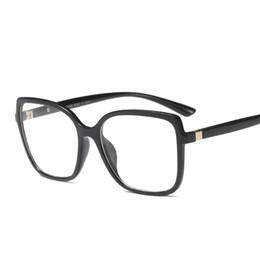 Protección de la computadora online-Marco de gafas cuadradas de gran tamaño Clásico Mujer Hombres Lentes de lentes transparentes Ordenador Protección contra radiación Marco de gafas Hombre FML