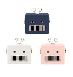 Wholesale portable small speaker - New Mini Portable Gift Retro Robot Speaker Creative Small Cute Wireless Bluetooth Audio