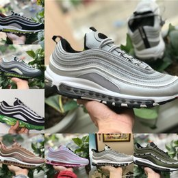 Wholesale mens white patent leather shoes - 2018 New vapormax 97 OG X Undftd Black Speed Red DS Top Quality Mens 97s ultra sean wotherspoon Shoes women Air Undftds undefeated Sneakers