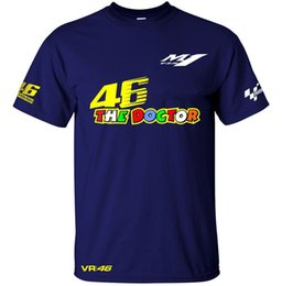 Wholesale vr shirt - Free shipping 2017 New Valentino Rossi VR 46 Logo for Yamaha Moto GP The Doctor Men's Quick-drying T-Shirt racing jersey Tops