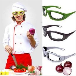 cuchillo espiral Rebajas Envío gratis Gafas protectoras Gafas de espuma para el corte de la cebolla Cortar Picar BBQ Herramienta de la cocina Gadget Barra de cocina vajilla utensilios de cocina