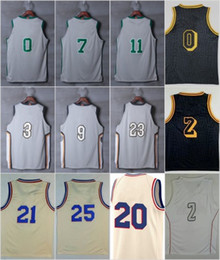 Wholesale Ball Jerseys - 2018 New Jersey City Edition 0 Tatum 7 Brown 11 Irvin 3 Thomas 9 Wade 23 James 0 Kuzma 2 Ball 21 Embiid 25 Simmons Grey Black White Stitched