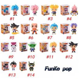 Wholesale big plastic dolls - FUNKO POP Dragon Ball Z Son Goku Vegeta Piccolo Cell PVC Action Figure Collectible Model Retail action figures surprise doll for kids toys