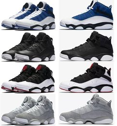 Wholesale Purple Rings - 2018 Air retro six 6 rings men basketball shoes French Blue Bulls Cool Grey Black Silver Grey Alternate Oreo Chameleon sports shoes sneaker
