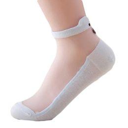 Wholesale Cleaning Socks - Wholesale- 6 Color New Cute Cartoon Bear Chunmian Stealth Boat Socks Short Clean Glass Socks Women SK0022