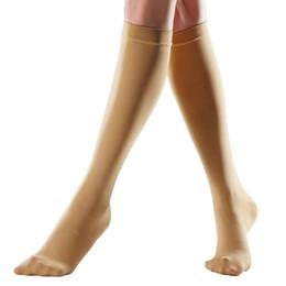 dcf0970f8 Meias de Compressão Médica Esporte ao ar livre Meias de Pressão 20-30mmHg  Meias Anti-Varicosas para as mulheres Dormir Desgaste Forma Pernas