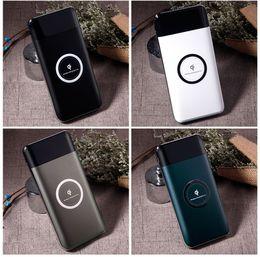 Cargador inalámbrico móvil online-2 IN1 Cargador inalámbrico Banco de energía 10000 mAh Cargador de teléfono móvil portátil 2 USB Banco de energía inalámbrico para teléfonos Tabletas con paquete