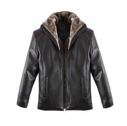 Wholesale Sheep S Wool - Winter 2016 New Men Sheep Leather Jacket Big Yards Middle-aged Man Fur Coat Men's Warm Locomotive Leather Jacket L-5XL
