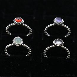 argento sterling 925 Sconti Charm Ring Size Marked 12 Mesi Regali di compleanno Solid 925 Sterling Silver European Style Weding Accessori per gioielli risultati per Pandora