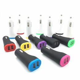 Wholesale mobile auto charger - Universal Matte deff 5V 3.4A Dual USB Mini Auto Car Charger Adapter for iphone iPad Mobile Phone