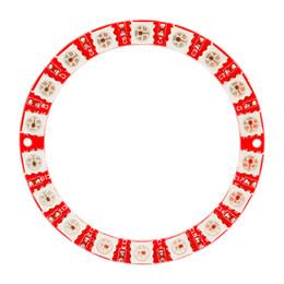 2019 tarjeta de pcb color KEYES WS2812 18bit Full Color RGB Module Circular Board (PCB rojo) rebajas tarjeta de pcb color