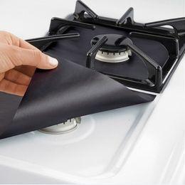 Wholesale ceramic foil - 300set 4PCS Reusable Aluminum Foil Gas Stove Burner Cover Protector Liner Clean Mat Pad File Injuries Protection Wholesale