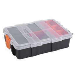 Wholesale Plastic Parts Storage Box - Cheap storage case Two-layer Plastic Heavy-duty Components Storage Case Organizer Small Parts Tool Box