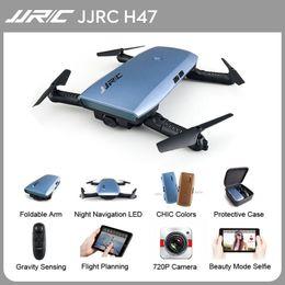 2019 câmera de atualização quadcopter hd Jjrc H47 Mini Selfie Dobrável Dobrável com Câmera HD FPV G-sensor Atualizado Braço Dobrável Controlador de Vôo Aerobatic Quadcopter câmera de atualização quadcopter hd barato