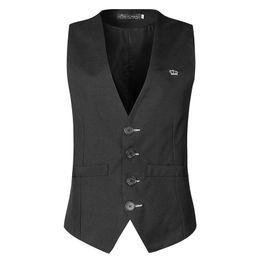 Wholesale Fitness Vest Men Slimmer - 2017 Men's clothing 4 buttons Business Sleeveless Waistcoat Slim Fitness male Vests Formal Work Suits Vest Plus size M-3XL MQ230
