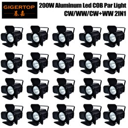 Wholesale Holiday Party Pack - Discount Price 20 Pack Stage Lights COB Par LED 200W Cold and Warm White Wash of Portable for Party Pub Theatre Danceing DJ Festival Holiday