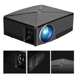 2019 video player de entrada Mini Projetor de Vídeo Projetor LCD Filme Projetores de Suporte 1080 P USB / SD / AV / Entrada HDMI / VGA HD Projetor para DVD Player PS4 Xbox Home Theater video player de entrada barato