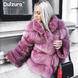 cappotto di pelliccia di volpe di lusso Sconti Donne Inverno 2018 Lusso Faux Fur Giacche Cappotti Shaggy Addensare Tuta sportiva calda Soprabito Ins moda High Street Fake Fox Fur Coat
