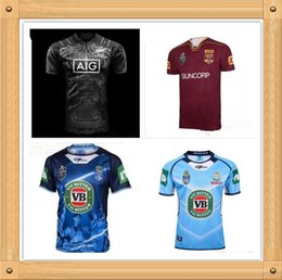 Wholesale Maroon T Shirts - New Zealand Maori All Blacks 2017 2018 NSW BLUES Welsh holden jersey Maroons Rugby Jerseys All Black t shirt