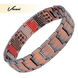 sortie magnétique Promotion Vivari 2018 New Magnetic 100% Bracelet en cuivre pur Hommes Germanium Infra Rouge Bracelet Ion Favoriser la circulation sanguine libération stress
