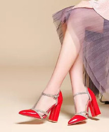Wholesale Types Heels Sandals - New Arrival Hot Sale Fashion Princess Fine Female Summer Elegant Sweet Pointed Buckle Rhinestone Patent T-Type Heel Sandals EU34-48