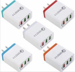 QC 3.0 Cargador rápido de pared Adaptador de carga rápida 3 Puerto USB para Iphone IPAD Samsung Huawei Xiaomi desde fabricantes
