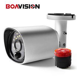 Wholesale Pir Cctv - 1080P CCTV Camera Alarm Speaker At Night IR 20M PIR Sensor Security Cameras Outdoor IP67 Waterproof AHD CVI TVI CVBS 4 IN 1 Cam