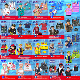 Wholesale Carnival Costumes For Kids - Halloween cosplay party fancy dress firefighter   chef   pilot   police officer doctor sexy nurse costume for kids