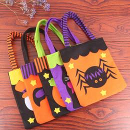 2019 giocattoli della ragazza del ragno 7 Stile Ragazzi Ragazze Halloween Candy borse 2018 Nuovi Bambini Zucca Spider Bat fantasma Tessuto non tessuto Mano borsa bambino giocattoli B001 giocattoli della ragazza del ragno economici