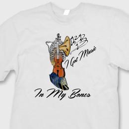 У меня есть музыка в моих костях футболка смешной скелет инструменты кляп подарок футболка от