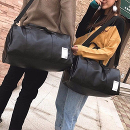 Wholesale Travelling Leather Suitcase - PU Leather Gym Bag Large Foldable Waterproof Storage Bags Suitcase Travel Pouch Handbag Tote Bag Luggage bags