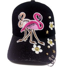 flamingo ball Promo Codes - Hot Sale Fashion Women Baseball Caps Embroided  Flamingos Faux Pearl Daisy dbd31c0c163