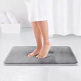 Wholesale shaggy bathroom mats - Water Absorption Rug Bathroom Mat Shaggy Memory Foam Bath Mat kitchen Door Floor Carpet For Toilet Non Slip