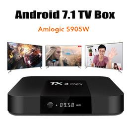 2019 mxq pro android tv box TX3 Mini S905W 2 Go 16 Go Android 8.1 TV BOX Amlogic Quad Core Ultra HD H.265 4K Stream Media Player Meilleur MXQ Pro X96 mini S922 promotion mxq pro android tv box